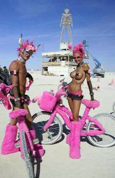 This proves that your bike is part of your costume at Burning Man.