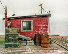 Maine Fishing Shack | copyright Jonathan Ramsdell Photography Fishing Shack, Small Buildings, Building Art, Vintage Fishing, Abandoned Places, Painting Inspiration, New England, Facade, Beautiful Places