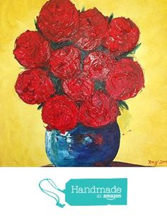 Red Roses Palette Knife Impasto Original Painting by Roxy Rich 12 x 16 from Chateau Roxy Art Boutique http://www.amazon.com/dp/B019HHQZ64/ref=hnd_sw_r_pi_awdo_gQCGwb1C2TYD6 #handmadeatamazon