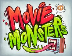 """Check out this @Behance project: """"Movies Monsters"""" https://www.behance.net/gallery/38312905/Movies-Monsters"""