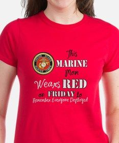 Marine Mom Red Friday T-Shirt for
