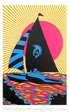 Vintage blacklight poster at www.swankmoderndesign.com