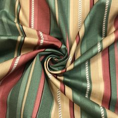 Classic Cane - Cotton Woven - Red / Green / Beige - 1/2 Meter