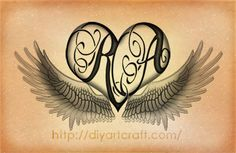 #wings #heart #tattoo #RA #diyartcraft