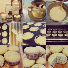 White chocolate and vanilla Muffins