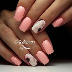 "If you're unfamiliar with nail trends and you hear the words ""coffin nails,"" what comes to mind? It's not nails with coffins drawn on them. It's long nails with a square tip, and the look has. Square Nail Designs, Colorful Nail Designs, Nail Art Designs, Pedicure Designs, Fabulous Nails, Perfect Nails, Toe Nails, Pink Nails, Nail Nail"