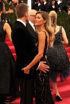 Pin for Later: The Hands-Down Cutest Red Carpet Pictures of 2014 Tom Brady and Gisele Bündchen BOTH Copped a Feel at the Met Gala