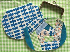 Here's my recent handmade item: patchwork gamaguchi wallet or metal frame coin purse I whipped up for a good friend of mine for her bir...