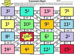 Worksheets Multi Operational Mathematical Maze order of operations maze and maths fun on pinterest exponents maze