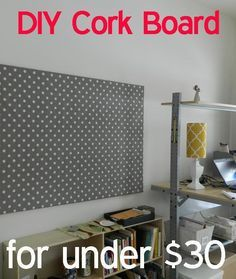 DIY Cork Board, easy bulletin board instructions