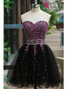 Black Homecoming Dress with Colored Beading,Short Prom Dress,Graduation Party Dresses, Homecoming Dresses For Teens sold by liveprom. Shop more products from liveprom on Storenvy, the home of independent small businesses all over the world. Mini Prom Dresses, Black Party Dresses, Dresses Short, Short Mini Dress, Dresses For Teens, Sexy Dresses, Cute Dresses, Dress Prom, Dress Black