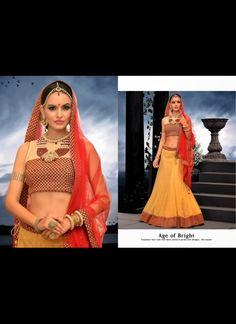 Flamboyant Cream Lehenga Choli #lehnga #wedding #bridal #shaadi #women #bride #LehengaCholi #ethnic #wear #desiwedding #asianclothes #bollywood #indian #trendz #indiantrendz