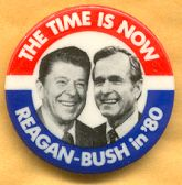 Reagan/G.H.W. Bush, campaign button