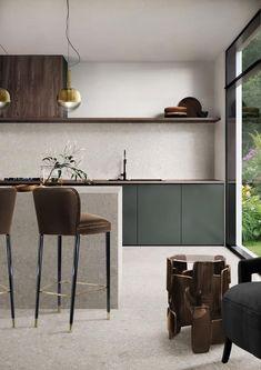 Interior Design Books, Interior Design Kitchen, Kitchen Decor, Kitchen Wood, Modern Kitchen Interiors, Modern Kitchen Design, Modern Design, Minimalism Living, Casa Milano
