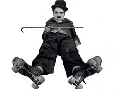 """Sir Charles Spencer """"Charlie"""" Chaplin used mime, slapstick and other visual comedy routines, and was popular through the silent era into talkies. Charlie Chaplin, Vevey, Logo Video, Et Wallpaper, Charles Spencer Chaplin, Famous Last Words, Silent Film, Classic Movies, Comedians"""