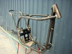 Norton featherbed frame. Brazed joints