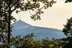Jested Mountain with television tower and mountain hotelCzech rep. [OC][5472x3648] - see http://www.classybro.com/ for more!