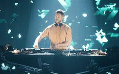 Download wallpapers Calvin Harris, Scottish DJ, singer, portrait, popular singer