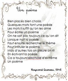 Raymond Queneau - Un poème