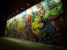 Kenny Scharf Houston Street Mural, Deitch Wall, New York City
