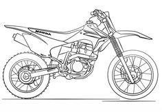Moto de trial de Honda Dibujo para colorear