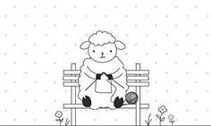 Baaa! Baaaaaaa! (KaWaiiiii!!)   KnitPicks Greeting Cards - Illustrated from KnitPicks.com