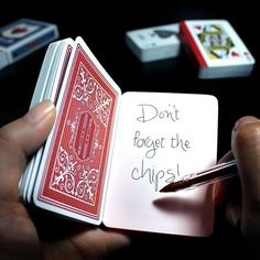 Playing Card Notebook |Pinned from PinTo for iPad|