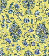 Home Decor Print Fabric-Pkaufmann Eugene Bluebell
