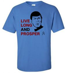 Live Long and Prosper Star Trek's Mr Spock dies by Insidefanshirts
