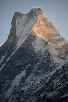 pearlkillers:  every stone step was worth it, leading to views like this. Mt. Machapuchare, Nepal.