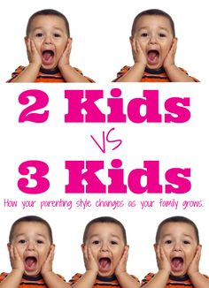Two kids vs three kids. How your parenting style changes as your family grows!