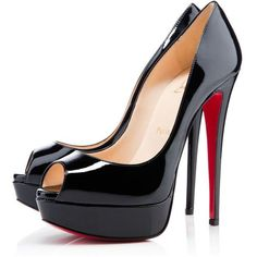 Christian Louboutin Lady Peep found on Polyvore