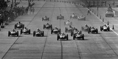 1959 USGP, SEBRING : START 1-Stirling Moss, Cooper T51 #7, Rob Walker Racing…