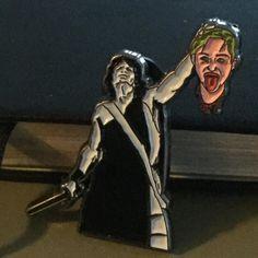 Gorgon Slayer $6 #gorgon #medusa #mileycyrus #perseus #pinpost #pingame #pinlord #pin #pins #lapelpin #lapelpins #lapelpinstyle #patchgame #patchlord #patchcommand #merchgame #merch #deathtopopculture #decapitated #decapitated by abysmalhillsshop