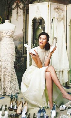 decisions, decisions…. ~ and more decisions ~ All the beautiful white as well as lovely shoes what's a girl to do ....... ~ MH ~