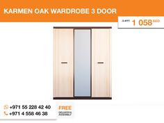 In addition to the Nicole bedroom set we also can offer you the Karmen wardrobe. It's also light and well-looking. Made from Oak rodos and designed in Poland, it this wardrobe entails passion for Your space.    More details here: http://gtfshop.com/karmen-wardrobe-3-door