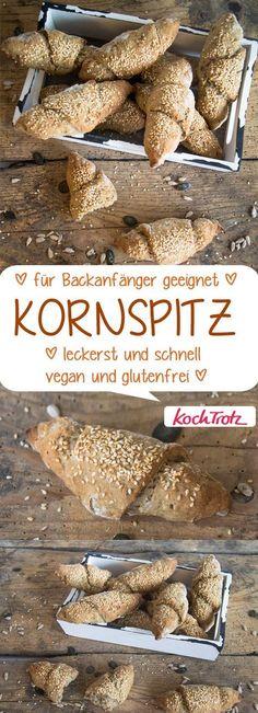Kornspitz   tolle Frühstücksbrötchen   schnell und einfach   glutenfrei   vegan #brötchen #kornspitz #glutenfrei #vegan