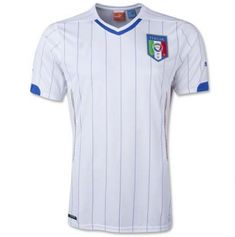2014 Italy Soccer Team WORLD CUP Away WHITE Replica Jersey FOOT [B340]