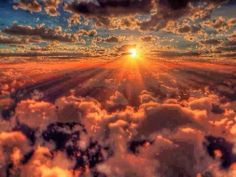 Beauty of Nature : We all have seen Sunrise from Horizon on Earth. But This one is quite Incredible   Sunrise over The clouds .. Seems beautiful ..Right ? :-)   For more travel Updates/Offers and Interesting Stuffs be connected to  Travel Universally