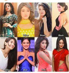 Dress Indian Style, Indian Wear, Yellow And Brown, Black And White, Shivangi Joshi Instagram, Kartik And Naira, Kaira Yrkkh, Mohsin Khan, Stylish Girl Pic