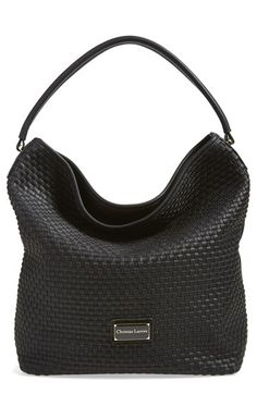 CXL by Christian Lacroix 'Avignon' Woven Faux Leather Hobo