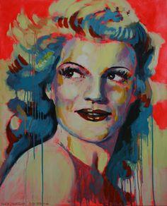 """Saatchi Art Artist Marta Zawadzka; Painting, """"Rita Hayworth - canvas"""" #art (JT)"""