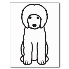 Portuguese Water Dog Cartoon Post Cards