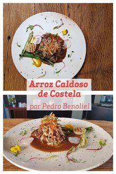Em Porto Alegre, o Chef Pedro Benoliel pode aprender a receita deste Arroz Caldoso de Costela, que é uma releitura do famoso Arroz Carreteiro. Que tal experimentar essa maravilhosa receita num almoço de um dia de frio?