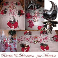 D cor table mariage carnaval de venise mariage for Decoration fenetre carnaval