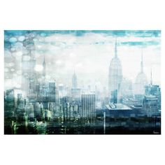 Hang this artful skyline print above a seating group to create a stylish conversation space, or display it in your foyer for an eye-catching focal point.