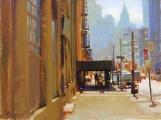 "Kim English, Streets of New York , oil on canvas, 12"" x 16"""
