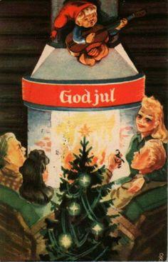 Julekort Dagfinn Peikli utg Mittet brukt 1941