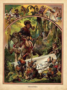 Snow White illustration from German children's book 1919