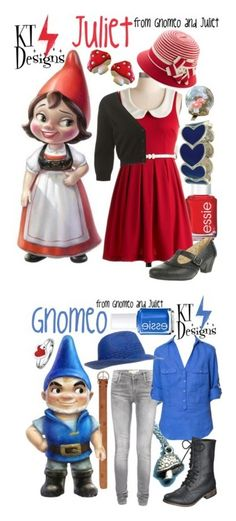 """""""Gnomeo and Juliet Collection"""" by ktdesigns-1 ❤ liked on Polyvore featuring Essie, Oasis, Look From London, Manfield, French Connection, Zara, Mossimo Supply Co., Forever 21 and Expressions"""